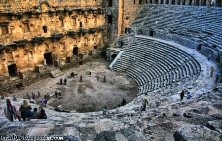 سالن تئاتر آسپندوس.گردشگری آنتالیا
