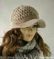 آموزش بافت کلاه زنانه,بافت کلاه لبه دار زنانه,کلاه لبه دار زنانه