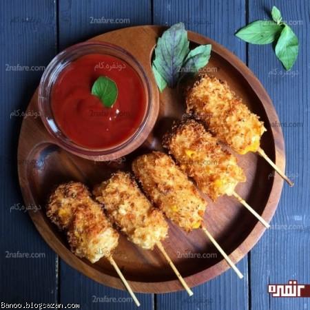فینگر فود سوسیس سوخاری پنیری