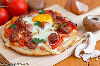 طرز تهیه <a href='/tag%D9%BE%DB%8C%D8%AA%D8%B2%D8%A7.php'>پیتزا</a> ساده,پیتزا ساده,پیتزا صبحانه