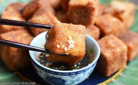 توفو سوخاری,غذای مخصوص گیاهخواران,گیاهخواری,پنیر سوخاری