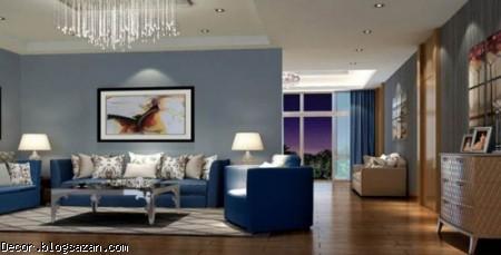 رنگ در دکوراسیون,رنگ آبی در دکوراسون خانه