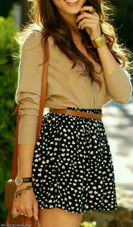 استایل دخترانه,دامن کوتاه,لباس مجلسی دخترانه