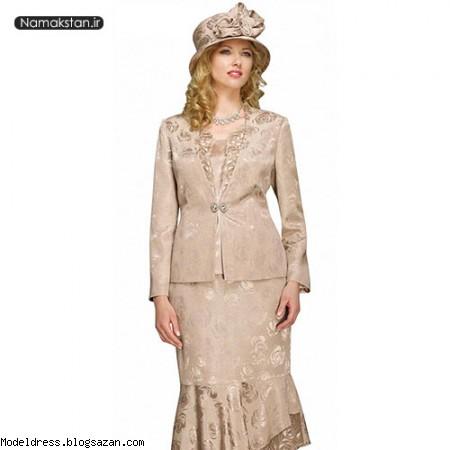 مدل لباس مجلسی بلند پیله دار مدل کت و دامن