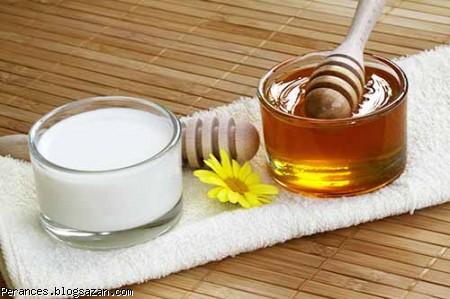 ماسک ماست و عسل برای درمان جای جوش