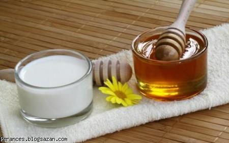 ماسک شیر و عشل,درمان خانگی جوش صورت,ماسک خانگی