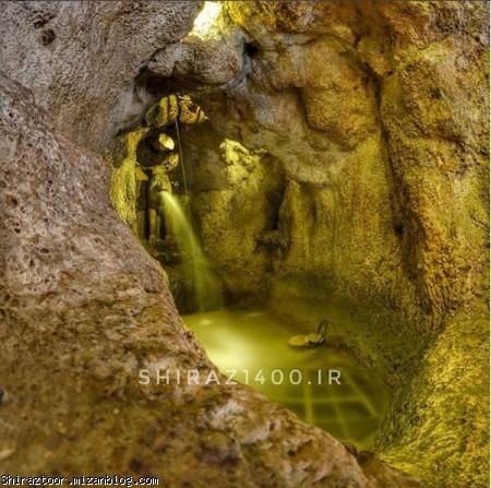 دروازه قرآن,شیر سنگی,غار بوستان خواجو