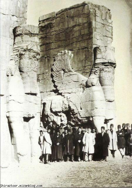 تخت جمشید,َیراز قدیم,درباریان قاجار