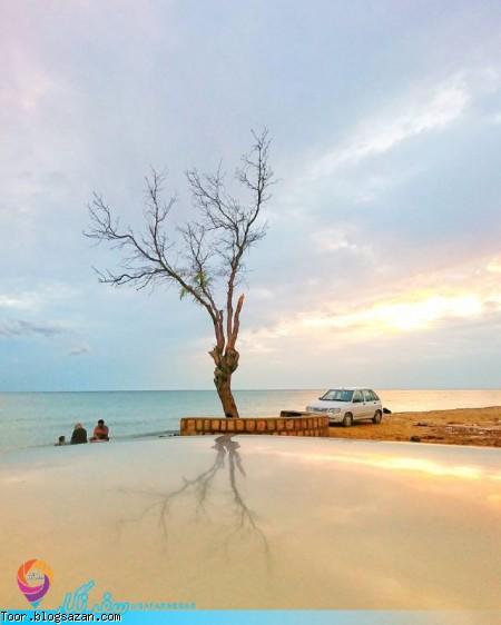 بندر سیراف,بکنگان بوشهر,ساحل چاه مجنون