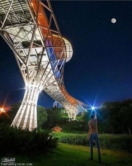 پل طبیعت تهران,گردشگری تهران,تهران گردی