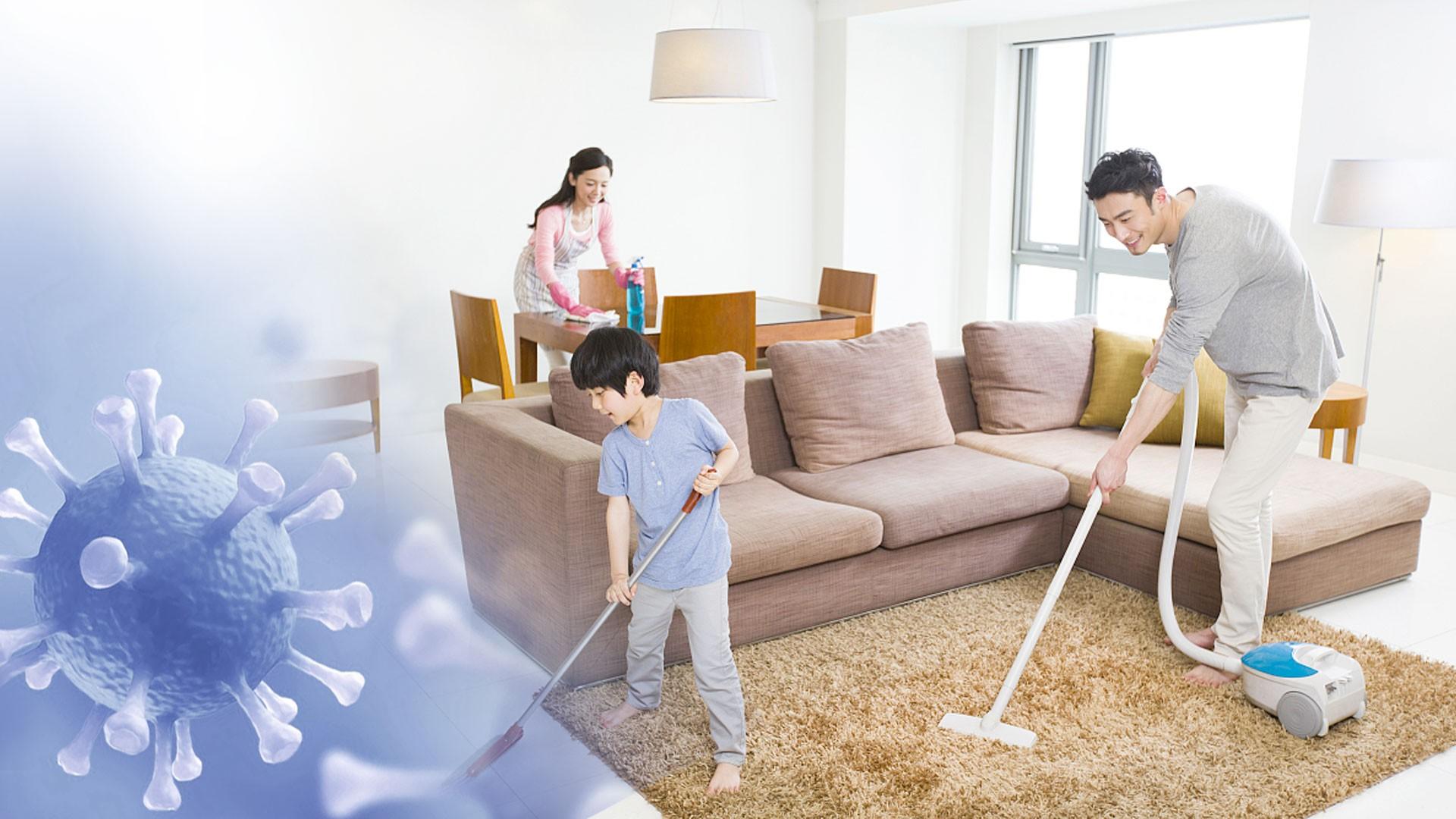 تمیز کردن و ضد عفونی کردن خانه در زمان ویروس کرونا