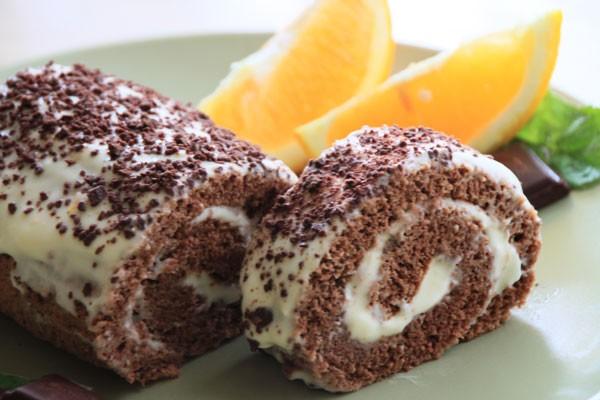 آموزش رولت شکلاتی با طعم پرتقال
