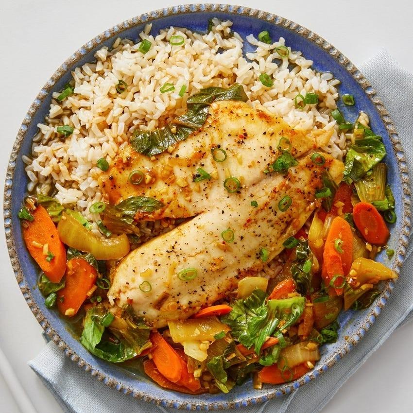 طرز تهیه خوراک ماهی با کاری