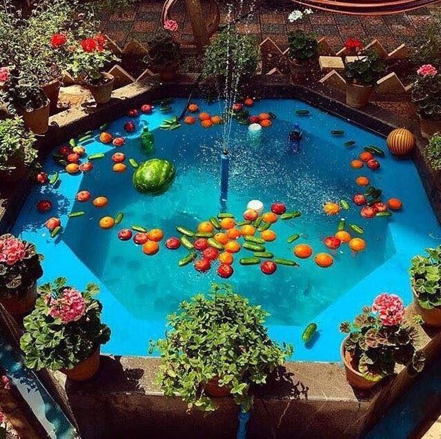 حوض های سنتی در حیاط خانه های ایرانی