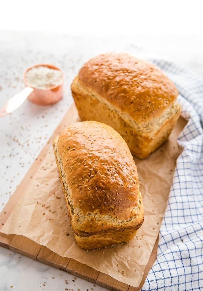 آموزش پخت نان ساندویچی سبوس دار آسان
