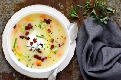 سوپ سیب زمینی با سبزیجات