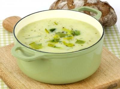 سوپ سیب زمینی-تره فرنگی