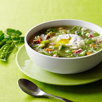 آموزش پخت سوپ غلیظ سبزی با نخود