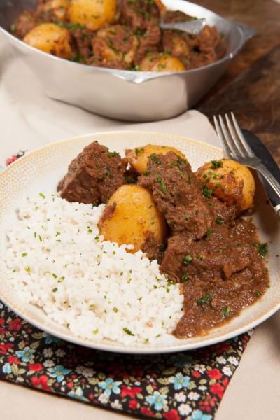 خوراک گوشت سیب زمینی با برنج - عربی