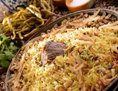 غذاهای سنتی شیرازی پلو اسفندی