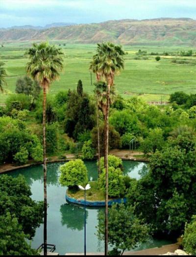 باغ چشمه بلقیس و برج تاریخی شهرستان چرام