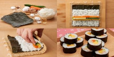 آموزش پخت سوشی لوله ایی یا ماکی سوشی - ژاپنی