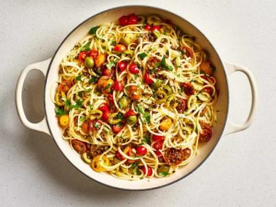 آموزش آشپزی ماکارونی پاتانسکا ایتالیایی