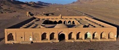 کاروانسرای میاندشت در میانه جاده ابریشم ایران