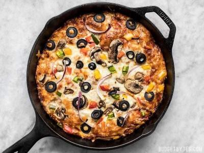 آموزش پیتزا بدون فر توی تابه