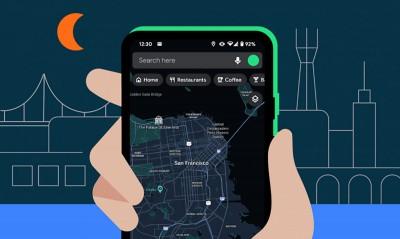 حالت تاریک برای Google Maps