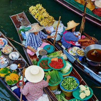 بازارهای شناور اطراف بانکوک