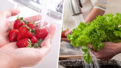 شستن و آماده کردن مواد اولیه غذا