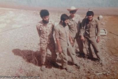 شهید منصور داروئیان در کنار شهیدان طاهری و زاهدی