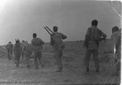 شهید منصور داروئیان سال ۶۱ فرمانده دسته در زمان درگیری با عراقیها عملیات آزادسازی خرمشهر